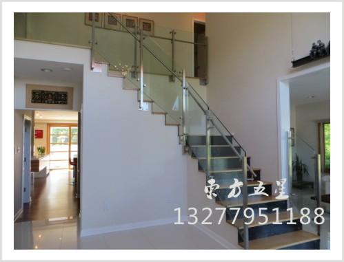 不锈钢玻璃楼梯扶手-11